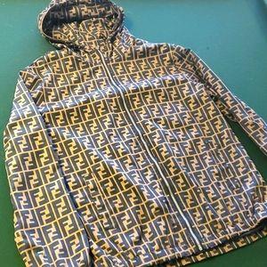 Fendi windbreaker zip up jacket size XL